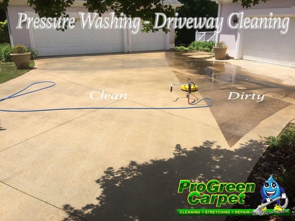 Pressure Washing Concrete 16