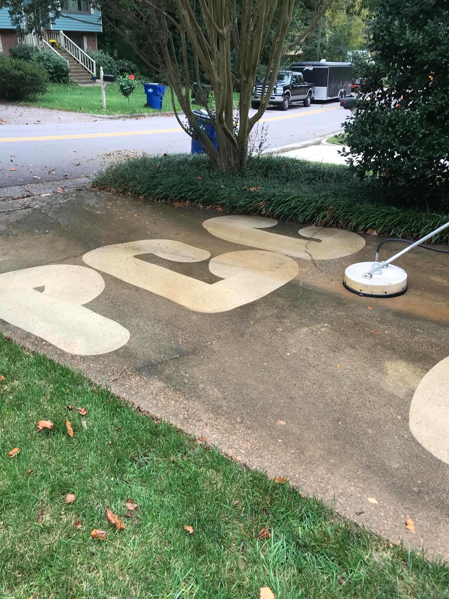 Pressure Washing Concrete 21