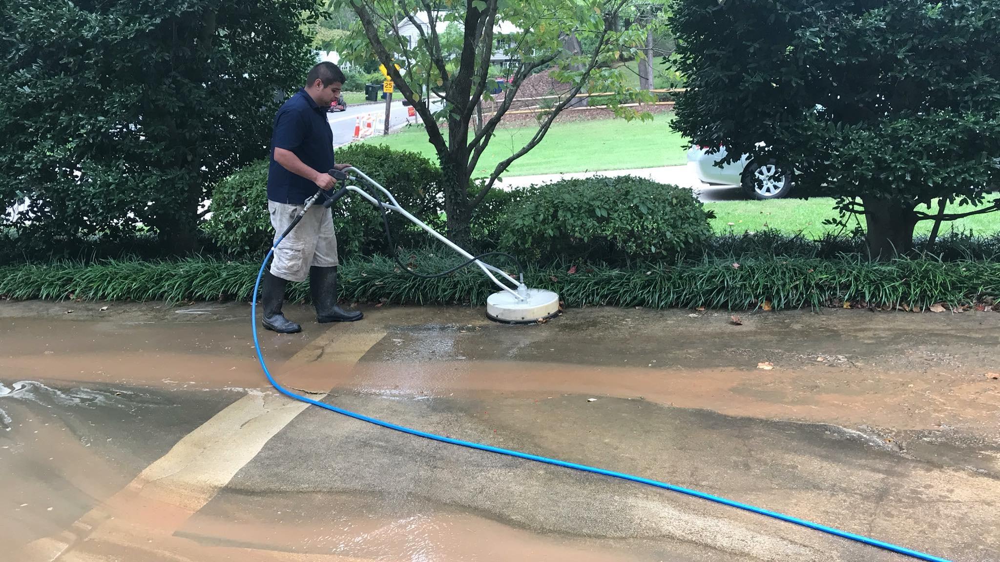 Pressure Washing Concrete 24